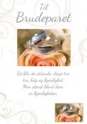 Dobbelt kort Til Brudeparet Tro håp og kjærlighet