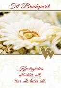 Dobbelt kort Til Brudeparet Kjærligheten utholder