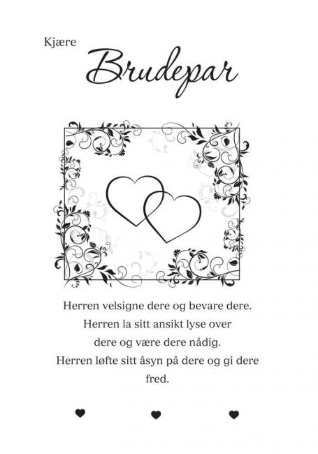 kort til brudepar tekst