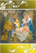 Dobbelt Julekort God Jul