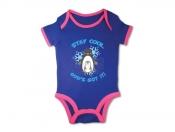 Baby body Pingvin blå