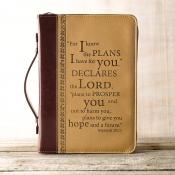 Bibelcover burgunder/beige Jeremia 29:11
