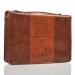 Bibelcover (L) brun Johannes 3:16