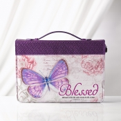 Bibelcover lilla Blessed Jer 17:7
