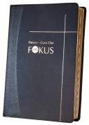 Bibelen – Guds Ord / Fokus skifergrått kunstskinn med register