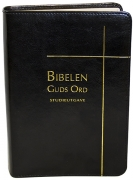 Bibelen – Guds Ord Studieutgave – sort kalveskinn