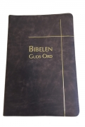 Bibelen – Guds Ord – storskrift – brunt skinn – register