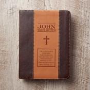 Notatbok liten tofarget brun