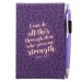 Notatblokk - liten - lilla med penn - Pil 4:13