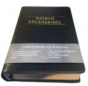 Norsk Studiebibel sort kunstskinn