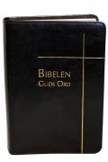 Bibelen – Guds Ord – storskrift – sort kunstskinn – register