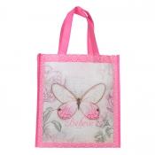 Handlenett/Rosa/Believe butterfly Mark.